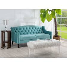 Tufted Upholstered Sofa by Jennifer Taylor Home 63001 3 894 Ken Upholstered Sofa In Arctic