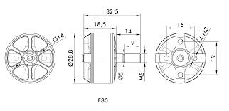 t motor f80 2408 1900kv 2200kv 2500kv brushless motor 2 6s for 220