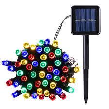solar power led lights 100 bulb string 200 led waterproof solar string lights starry fairy lighting decor