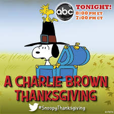 peanuts on a brown thanksgiving airs tonight at