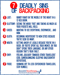 seven deadly sins 7 deadly sins of backpacking hostelbookers