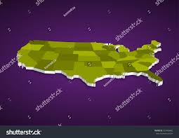 Usa State Map by 3d Usa State Map Stock Vector 551458462 Shutterstock