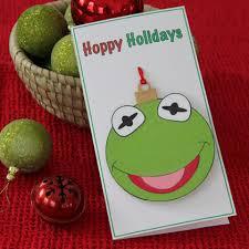 kermit hoppy holidays ornament card disney family