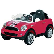 pink toy jeep kids mini cooper coupe 6v childrens electric ride on toy car only