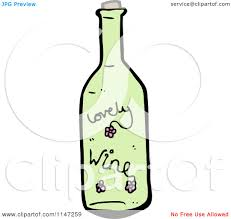 cartoon wine bottle cartoon of a green wine bottle royalty free vector clipart by