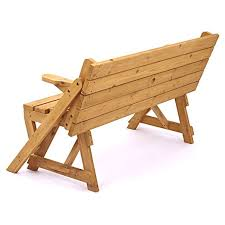 picnic table converts to bench trueshopping modbury two in one convertible garden bench and picnic