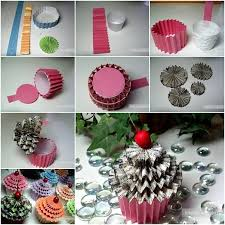 How To Make Decorative Gift Boxes At Home Diy Paper Cupcake Gift Box Ruční Práce Handmade Pinterest