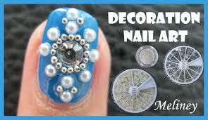 pearl beads u0026 rhinestones winter decoration nail art no brush