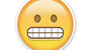 Super Happy Meme Face - this grimace face emoji is causing awkward conversations make
