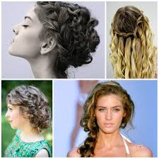 short curly hair in side part with ponytail hairs picture gallery