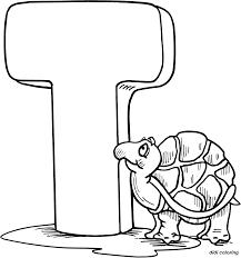 printable preschool alphabets uppercase letter t tortoise