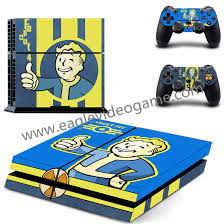 cool fashion fallout 4 vinyl ps4 protective skin and 2pcs