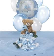 Centerpieces For Baptism For A Boy by Baptism Decorations For Boys Teddy Bear Themed Christening