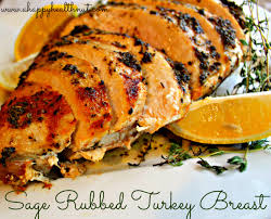 rubbed turkey breast happy healthnut