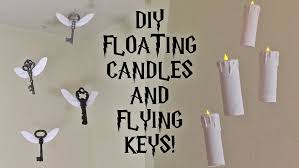 diy harry potter floating candles and flying keys room party