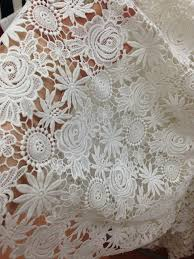 aliexpress com buy off white crocheted floral pattern lace