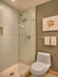 lovely bathroom glass tile home renovations with shower door