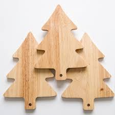 christmas tree wood plate creative bread board pallet kitchen