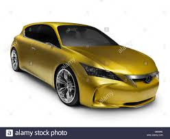 lexus sport hybrid concept gold shiny lexus lf ch hybrid concept car stock photo royalty