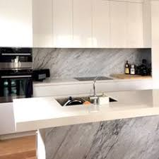 statuario marble used for kitchen island fabricated and installed