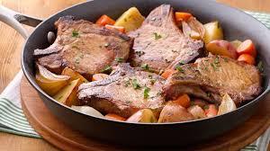 Quick Simple Dinner Ideas Pork Chop Skillet Dinner Recipe Bettycrocker Com