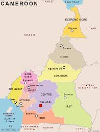 map of cameroon cameroon provinces map provinces map of cameroon cameroon