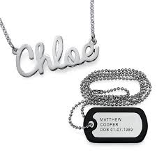 her necklace images For him and her dog tag necklace name necklace mynamenecklace jpg