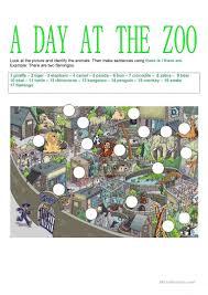 90 free esl zoo worksheets