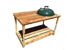 how to build a weber grill table custom weber charcoal grill table made with by 2beesfurniture