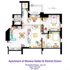 out this artist u0027s super cool floorplans of famous tv homes