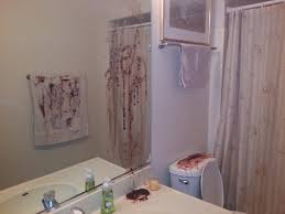 bloody help on the mirror halloween scary bathroom decor scary