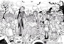 hard halloween coloring pages printable