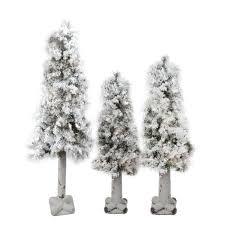 set of 3 pre lit woodland alpine artificial trees 4 5