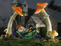 amazing of gnome garden decor solar lighting design solar garden