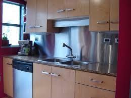metal backsplash material awesome kitchen backsplash options