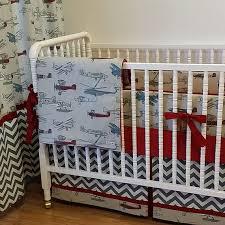 Airplane Crib Bedding Airplane Baby Bedding Made To Order 4 Pc Vintage Airplane Crib