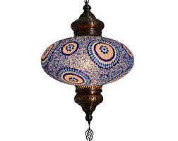 turkish mosaic lamp etsy