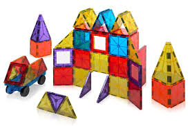Magna Tiles Black Friday by Amazon Playmags Clear Colors Magnetic Tiles Building Set 60 Piece