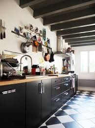 cuisine et blanc photos exemple cuisine damier noir et blanc