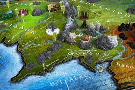 map of the lord of the rings 4d lord of the rings middle earth 4d puzzle puzzlewarehouse