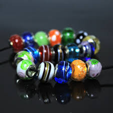 online shop 50 pcs mix color big hole beads acylice glass beads