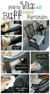 How To Refinish A Table Sand And Sisal by Waxing And Buffing Black Painted Furniture To A Beautiful Shine