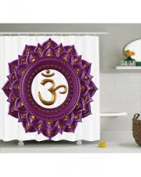 pink and purple shower curtain ombre mandala print for bathroom