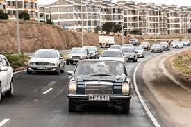bentley kenya toa stress join mercedes benz club members for drive to thika on