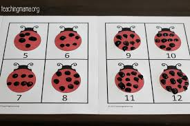 ladybug spots counting activity
