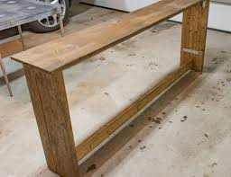 Rustic Sofa Table by Bench How To Build A Sofa Table Wonderful Rustic Bench Plans How