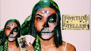 scary fortune teller makeup halloween u002717 youtube