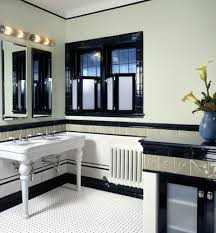 art deco style reflected in new york powder room blog