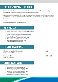Proffesional Profile Meaning Of Profile In Resume Resume For Your Job Application