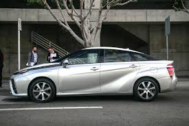 hydrogen fuel cell car toyota test drive toyota mirai fuel cell vehicle cool hunting